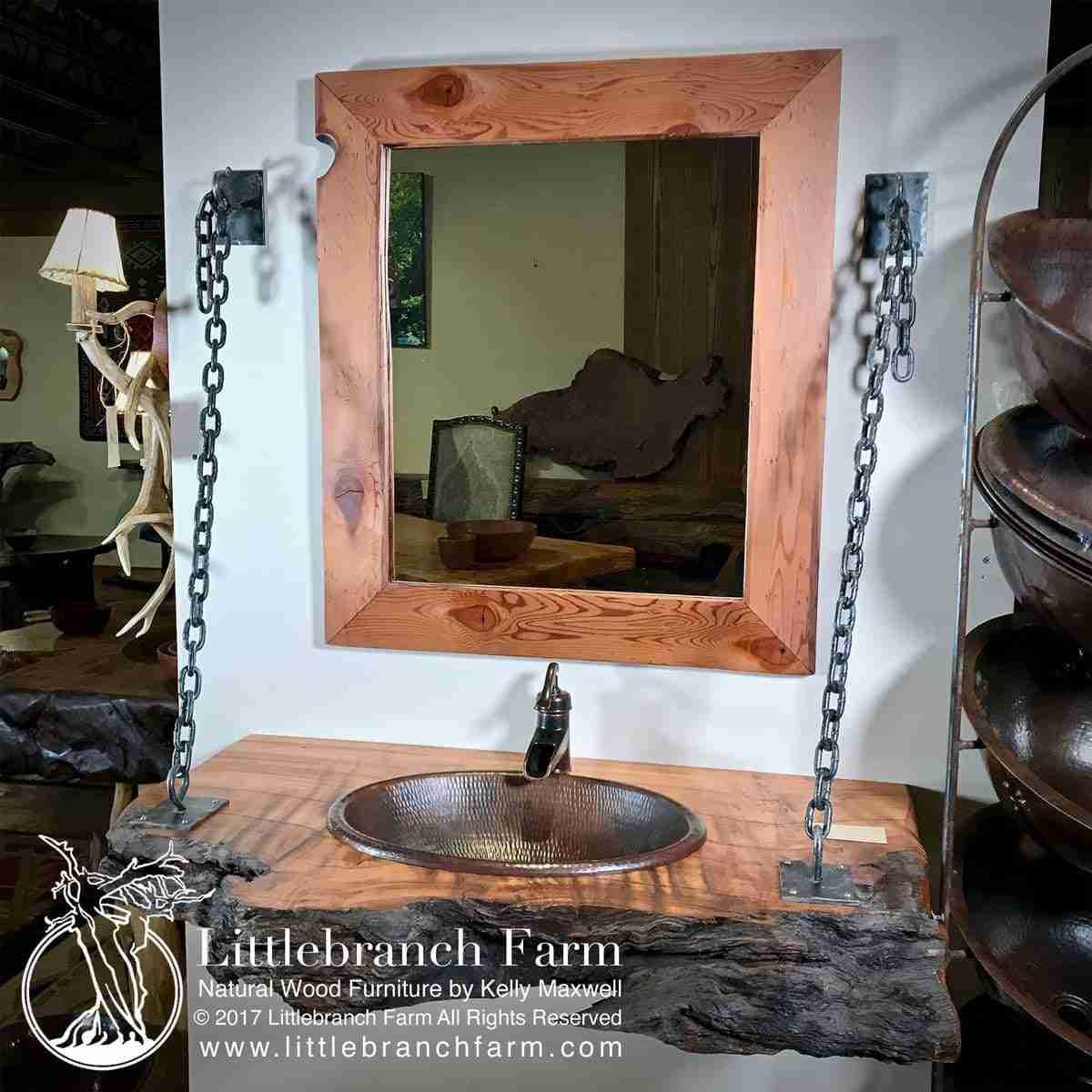 Wood Slab Rustic Bathroom Vanity 201 Littlebranch Farm