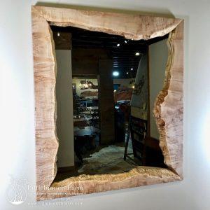 Wood slab mirror