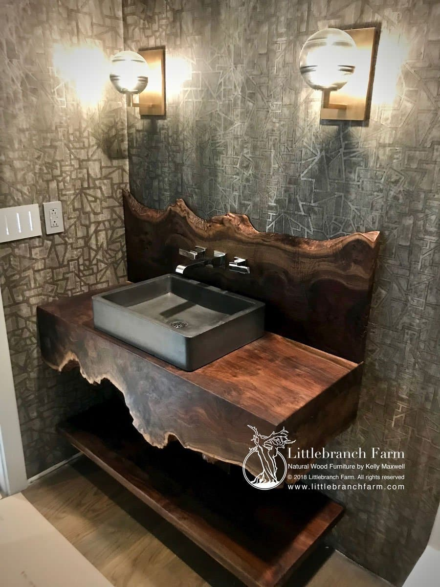 Rustic Vanities Rustic Vanity Floating Bathroom Vanity