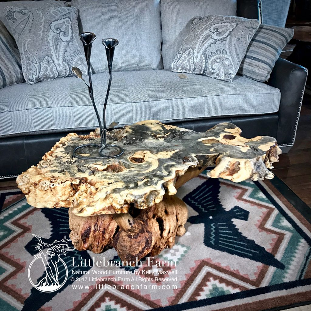 Wood slab table
