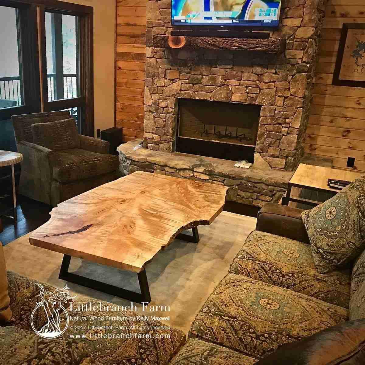 Natural Wood Furniture Using Live Edge Wood Logs You Ll Love