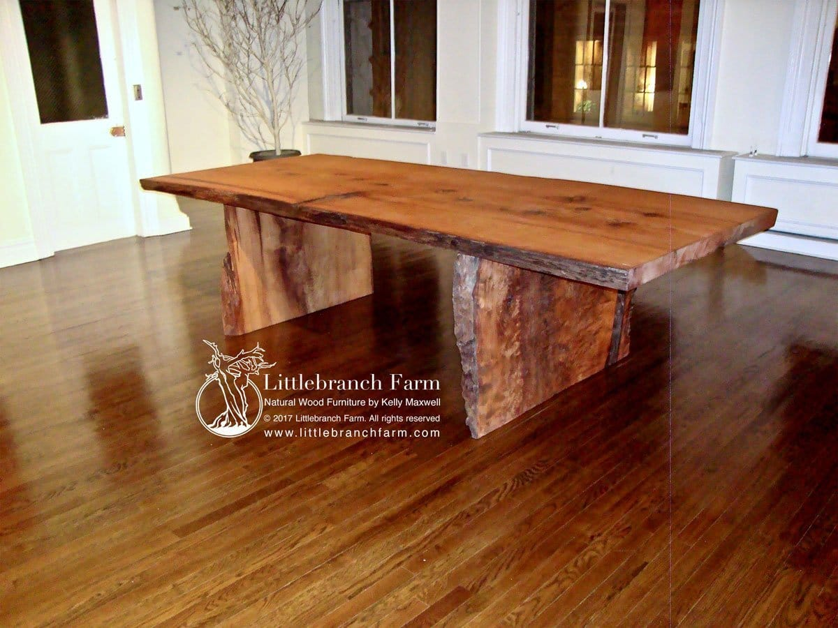 Picture of: Rustic Dining Table Live Edge Dining Table Wood Slab Dining Table