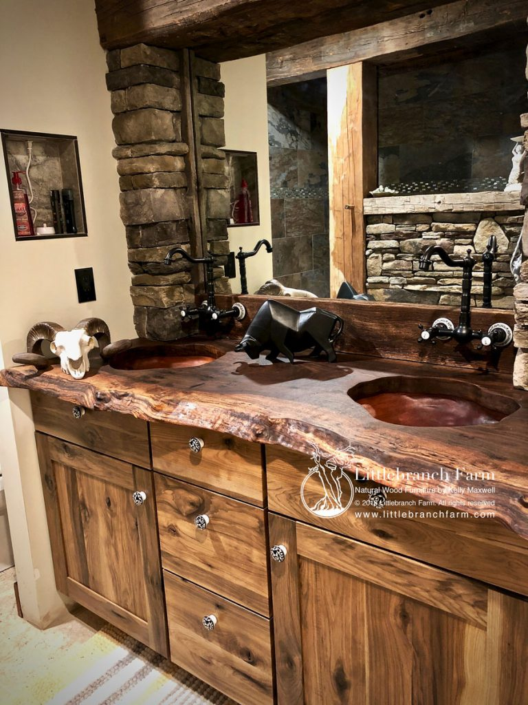 Wood sink basins