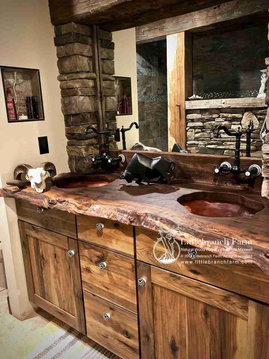 Rustic Vanities Rustic Vanity Floating Bathroom Vanity