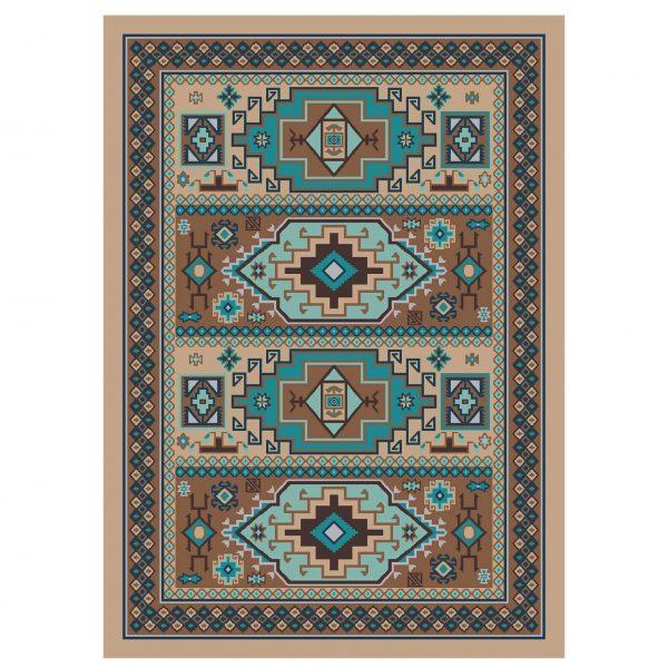 Pastel teal area rug
