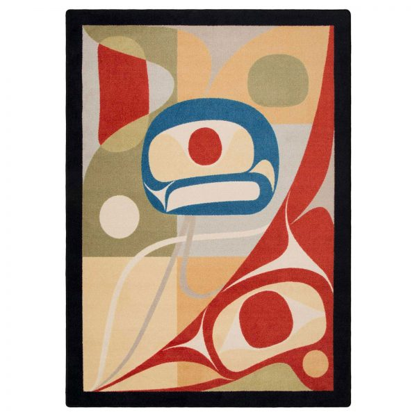 Abstract native rug design