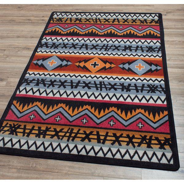 Modern southwest area rug design.
