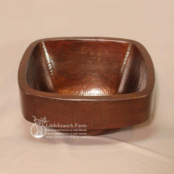 Apron square copper sink