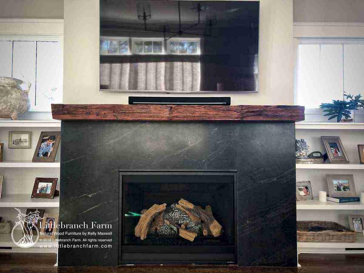 Rustic Fireplace Mantels Fireplace Mantel Littlebranch Farm