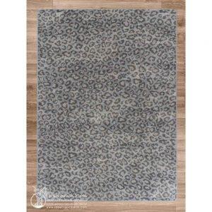 Snow leopard area rug