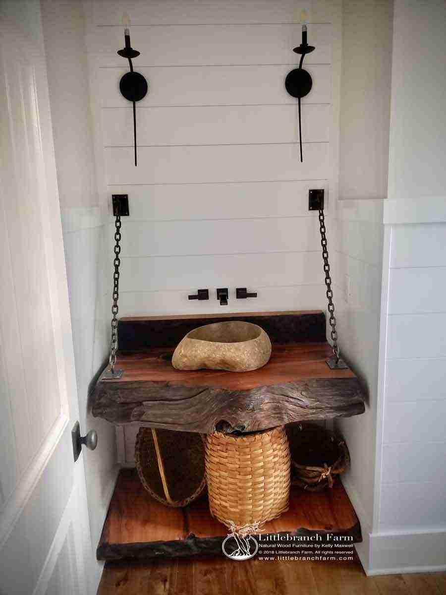 Picture of: Rustic Vanities Rustic Vanity Floating Bathroom Vanity